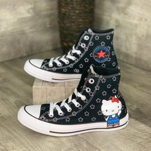 Converse & Hello Kitty Ctas HI 19F Black 😻